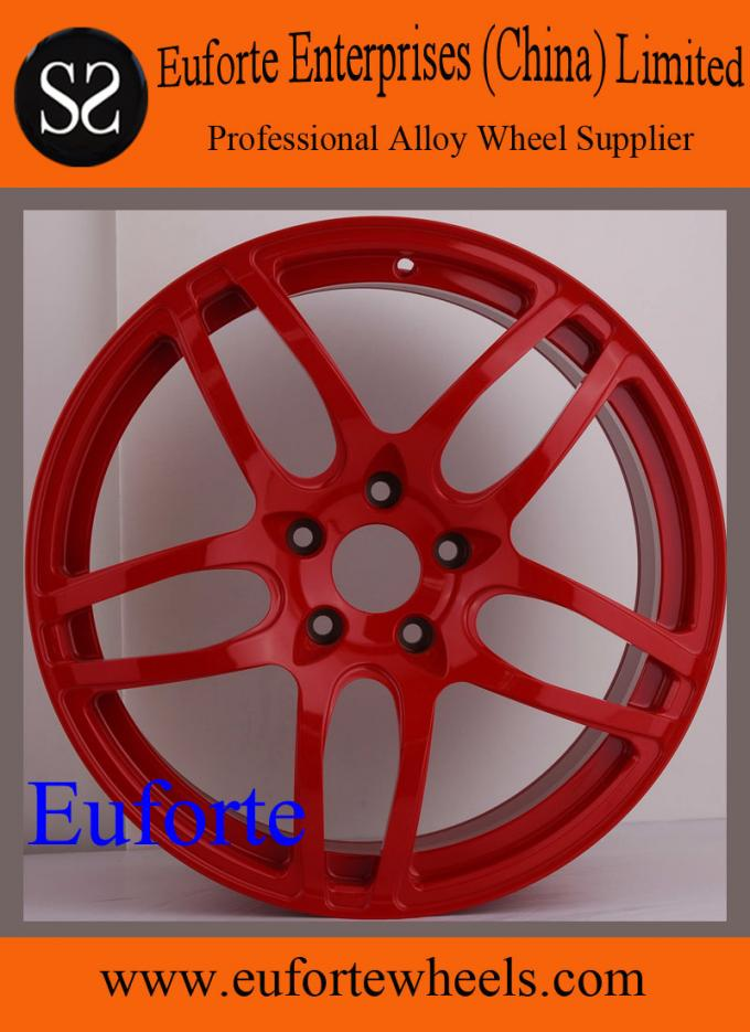 SS Wheels - 18 inch to 20 inch wheels double 5 Spokes Red Elegant / Custom Rims for Trucks