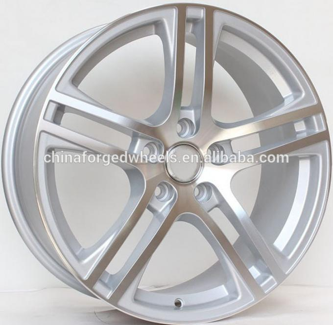 20inch Staggered Rims For Audi A8 / Silver  Machined Customized 20 inch  5x112 Forged Alloy Rims