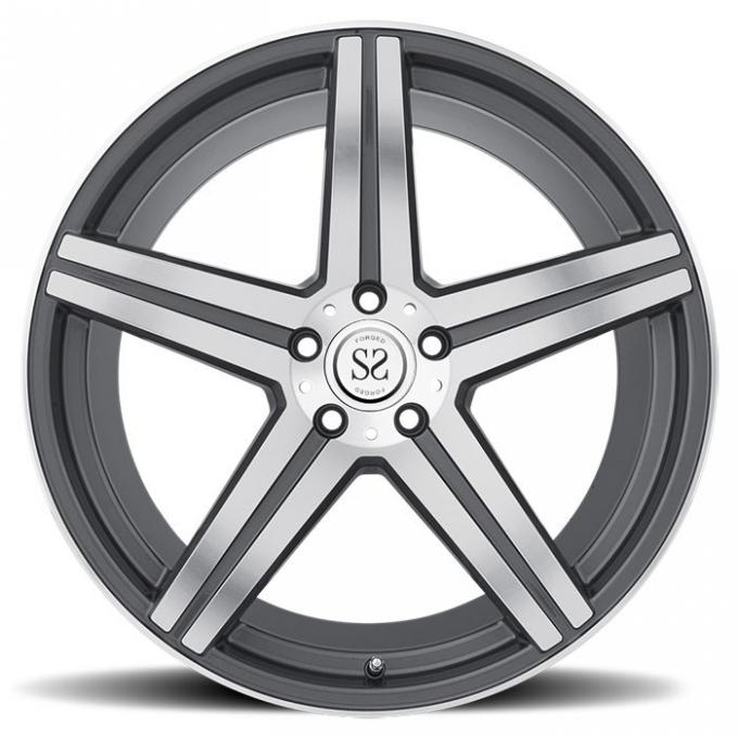 5*114.3 gray machine face customs 1 piece forged alloy wheel rim for Lexus