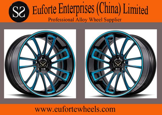 "China Susha Wheels-19"" 20"" 21"" 22"" Forged Wheels Black Milling Windows Blue Coating supplier"
