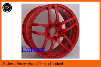 China SS Wheels - 18 inch to 20 inch wheels double 5 Spokes Red Elegant / Custom Rims for Trucks supplier