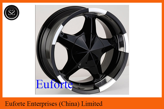China 17inch 5 x 150 off road wheels 17 x 8 / 8J x 17 Black SUV Wheels For Toyota Tundra  Sequoia supplier
