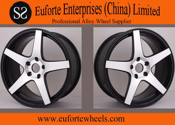 "China 5 Spokes Golden 18"" to 20"" Aluminum Forged Wheels / Audi Wheel Rim supplier"