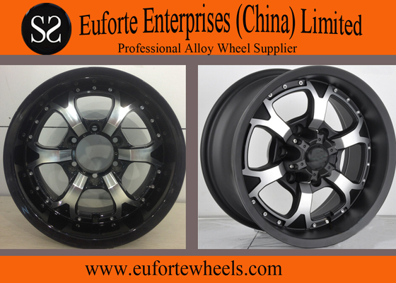 China Strong Spokes SUV 16 x 8 off road wheels , 15 Inch Alloy Wheels supplier