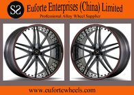 SS wheels - Gloss Black Red Ring Forged Wheels 100 - 139 . 7mm PCD