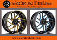 SS wheels-Gloss Black Machined Color Coating Forged Wheels 98-120mm PCD