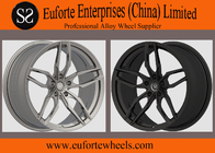 "China SS wheels-5Spoke 19"" - 20"" Matte Black Forged Aluminum Wheels With OEM Cap TUV Approval company"