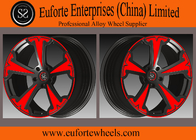 China SS wheels - Aluminum Alloy 6061 - T6 Forged Wheels Black With Red Face Forged Custom Wheels company