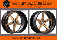 China 2pieces forged wheels / BMW X5 Bronze forged Wheels / 5-Spokes forged wheels factory
