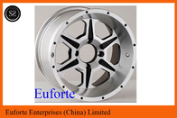 SUV 15 inch Silver 4 x 4 Off Road Wheels Lip Aluminum Alloy With Custom Caps