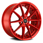 pcd 139.7 114.3 130 red brushed auto aluminium window wheels and rims