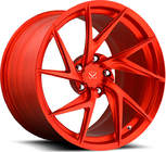 China Red Customized 20 Staggered Car Alloy Rims For Porsche	 911 Turbo factory