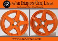 Orange Aluminum Alloy Custom Retro Style Wheels For Toyota Honda
