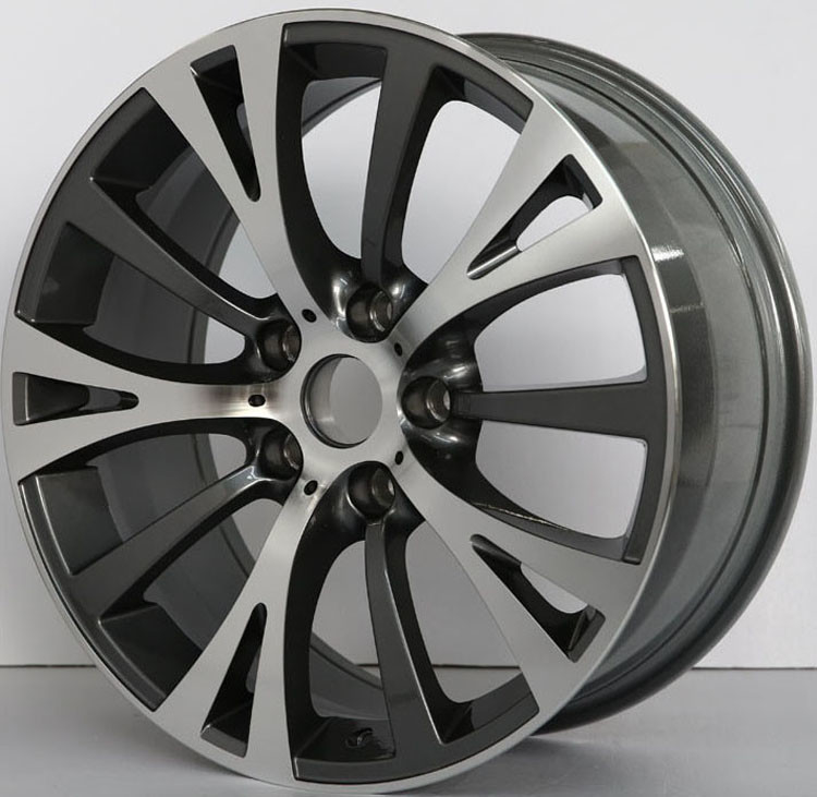 Car Rims For BMW 535Li / Gun Metal Machined Customized 19 inch Forged Alloy Rims