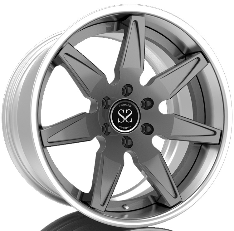 Custom 2 Piece Forged Wheels For Inner Barrel, T6061 Car Rim For Slant Lip, Step Lip For T6061 Forged Wheels
