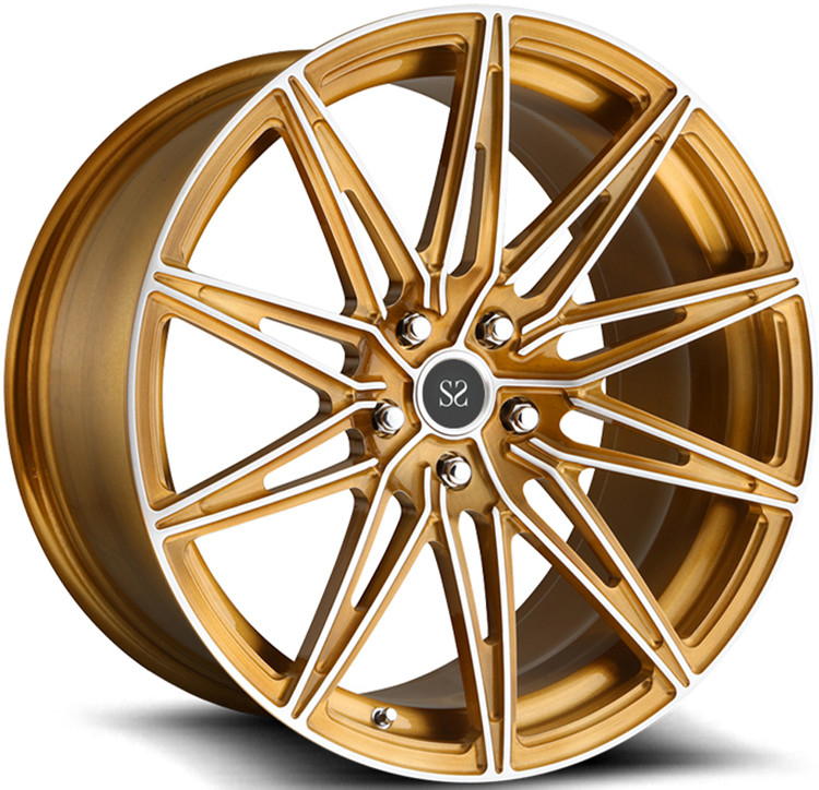 "Customized Bronze 20"" 1- Piece Forged Wheels For Lexus RC with 5x114.3"