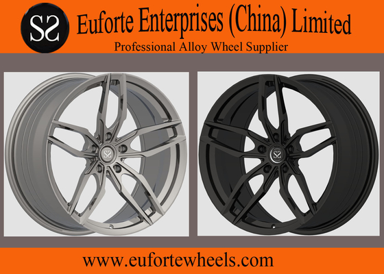 "China SS wheels-5Spoke 19"" - 20"" Matte Black Forged Aluminum Wheels With OEM Cap TUV Approval distributor"