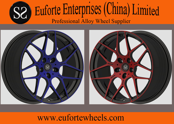 China Susha Wheels-Standard Finishes Blue Forged Wheels 8.5 - 12 Inch Width Forged Alloy Wheels distributor