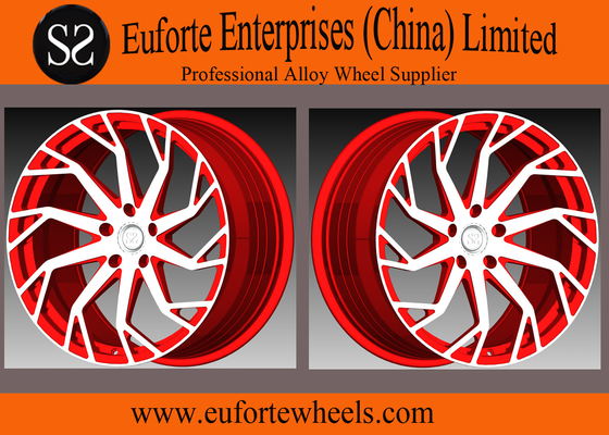 China SS wheels-54.1mm - 74.1mm CB 1pieceForged Aluminum Alloy Wheels Concave Blue Machine Face distributor