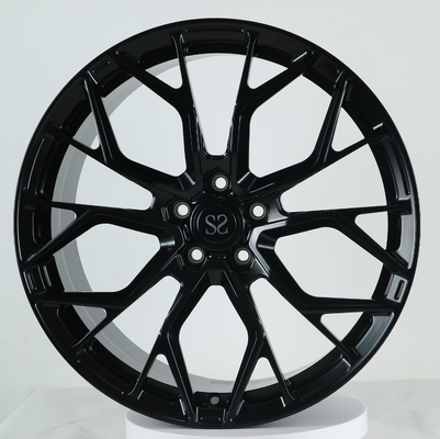 China 21x10 And 21x12 Gloss Back 1- PC Forged cancave aluminum alloy Rim Ferrari Wheels factory