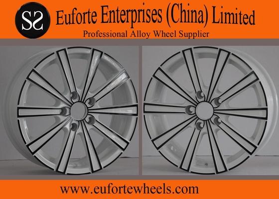China 17inch ElegantStylingWheels White With Black Electrophoresis After Market Wheels distributor
