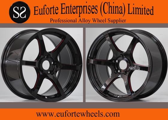 China 17 inch Black Machine Elegant  Tuning Wheels With Aluminum Alloy distributor