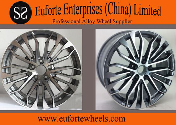 China 18x8 inch Gun Metal Machine Face Audi Replica Wheels Rims / Audi A8 Alloy Wheels distributor