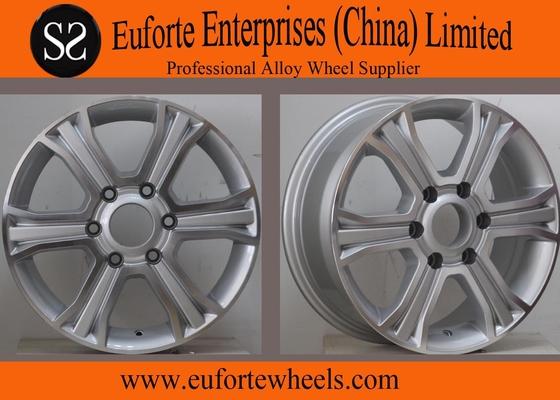 China 16inch 6 Spoke 4 x 4 Off Road Wheels 6 x 130 Silver Machine Face SUV distributor