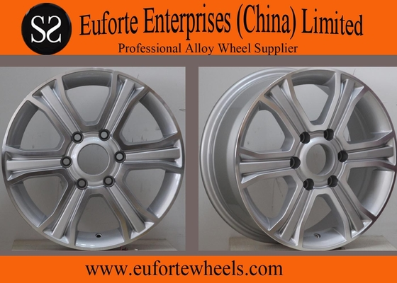 China 16inch 6 Spoke 4x4 Off Road Wheels 6x130 Silver Machine Face SUV distributor