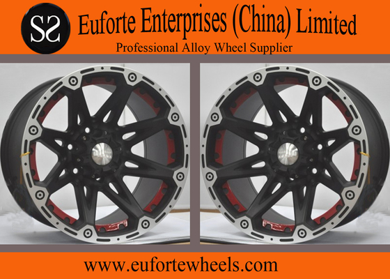 China 17x8.5 4x4 Off Road Wheels 17x9.5 Black Machine Flange 8 Spokes Concave Wheels distributor