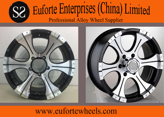 China Aluminum alloy  Black Off Road Wheels 18inch for Toyota GMC Nissan Ford distributor