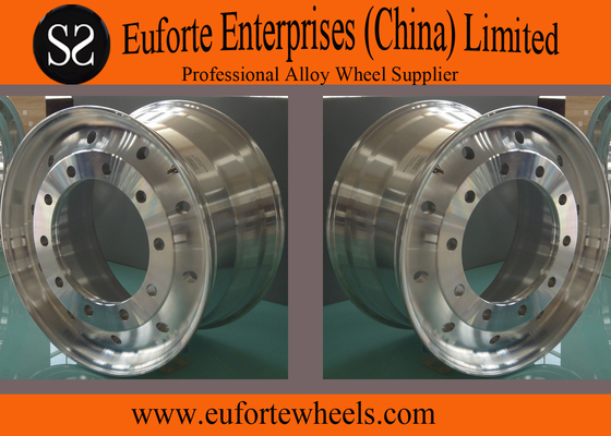 China Paint  Polished Silver Forging Truck Wheel Rim / 22.5 aluminum truck wheels distributor