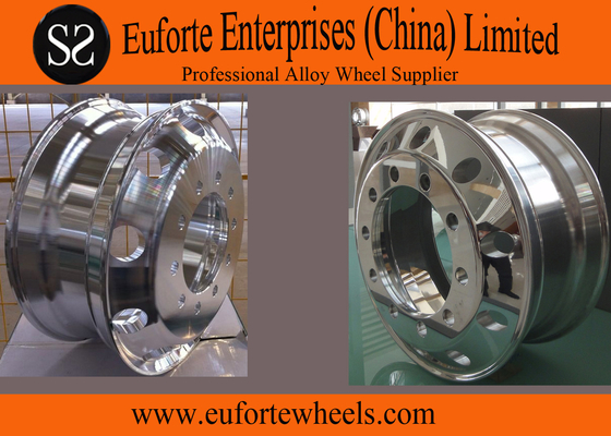 """China 24.5""""  Chrome  forged aluminum truck wheels / forged replica wheels distributor"""
